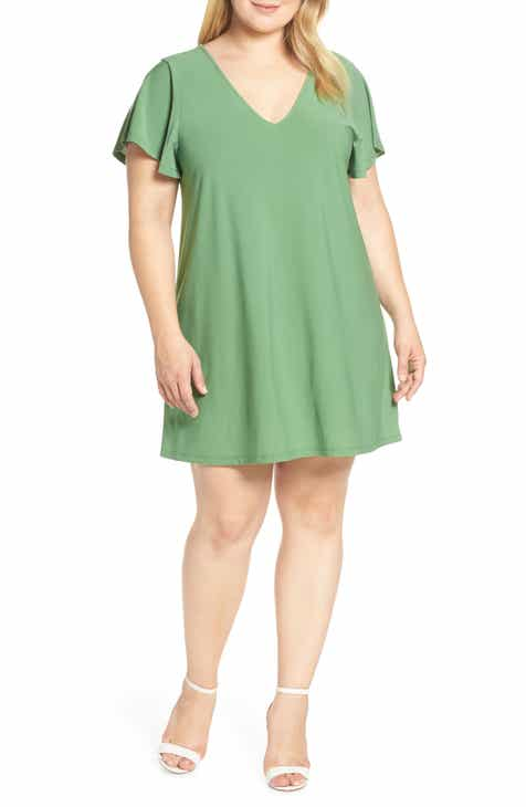 Leith Ruffle Sleeve Shift Dress by LEITH