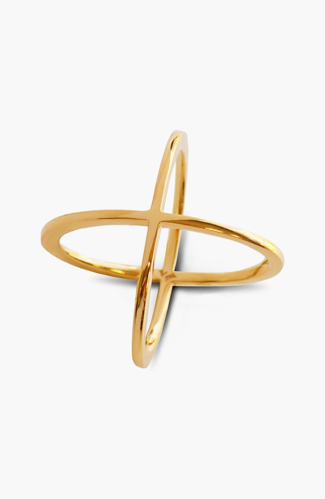 'X' Ring,                         Main,                         color, Yellow Gold
