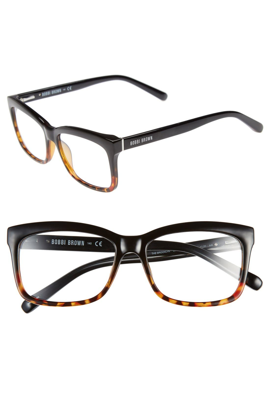 The Brooklyn 53mm Reading Glasses,                             Main thumbnail 1, color,                             Tortoise/ Black