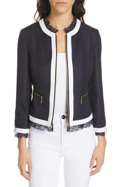 Ted Baker London Ennio Lace Trim Woven Jacket by TED BAKER LONDON