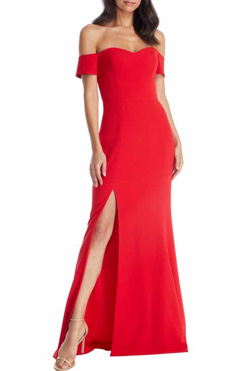 df3e767c093b Dress the Population Logan Off the Shoulder Evening Dress