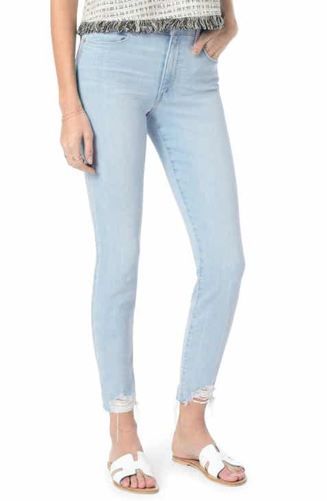 Tinsel Ripped Crop Skinny Jeans (Crunk) by TINSEL