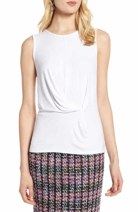 64aaface75875 Halogen® Waist Detail Sleeveless Top (Regular   Petite)