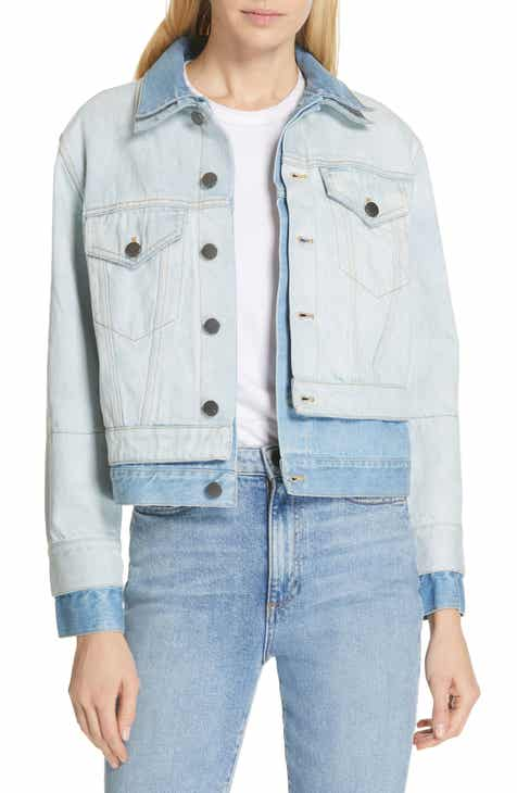 Alice + Olivia Jeans Two-Tone Double Denim Jacket by ALICE AND OLIVIA JEANS