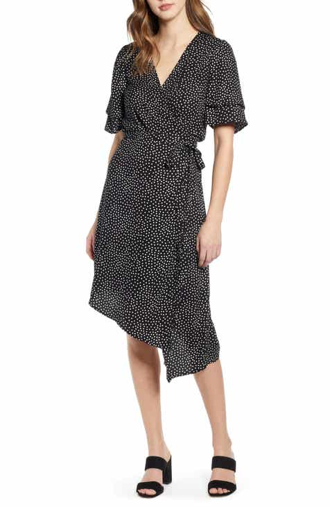 4c5cf6b8bd Leith Ruffle Sleeve Wrap Dress