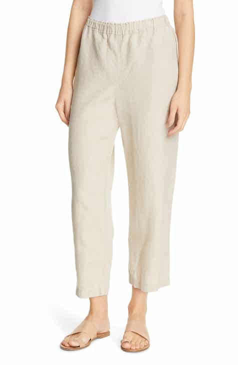 88944b67a48 Eileen Fisher Cropped Linen Pants