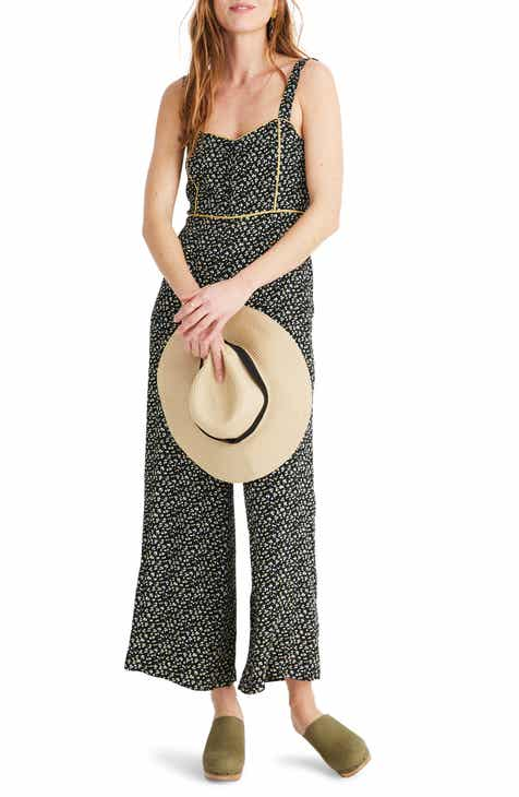 757ae411fba Madewell Button Front Wide Leg Jumpsuit