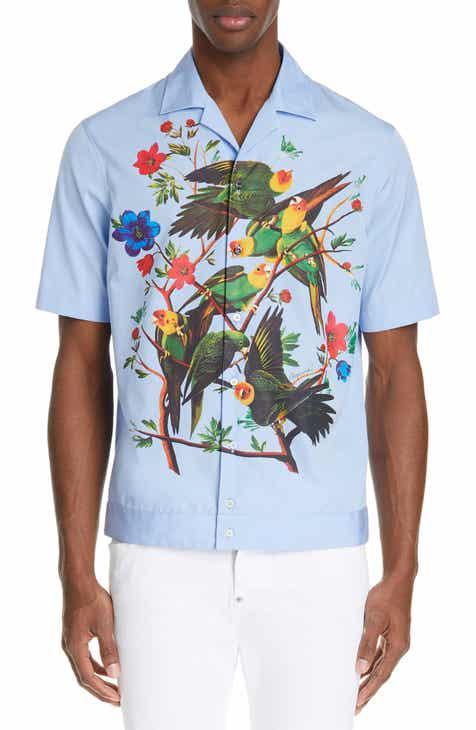 4899cdc385 Dsquared2 Floral Bird Print Camp Shirt.  555.00. Men s Shirts
