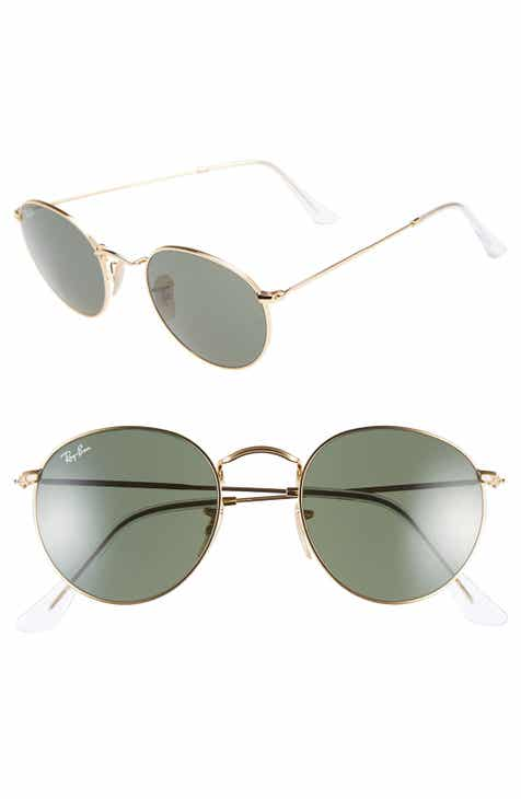 de755124d1dec Ray-Ban Icons 50mm Round Metal Sunglasses