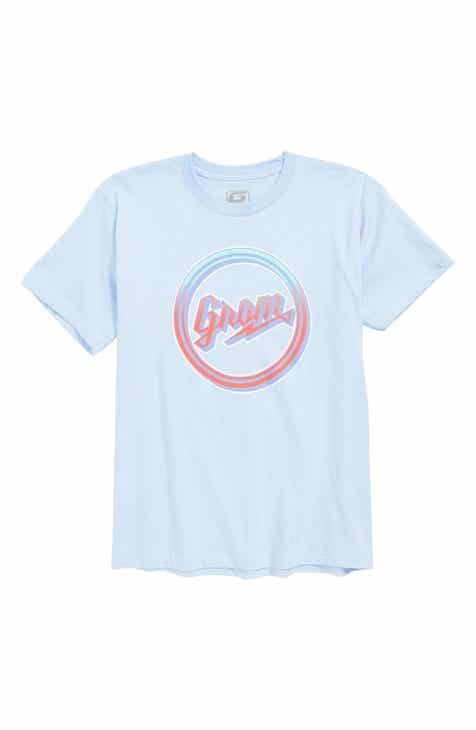Grom Fade Script Logo T-Shirt (Little Boys & Big Boys)