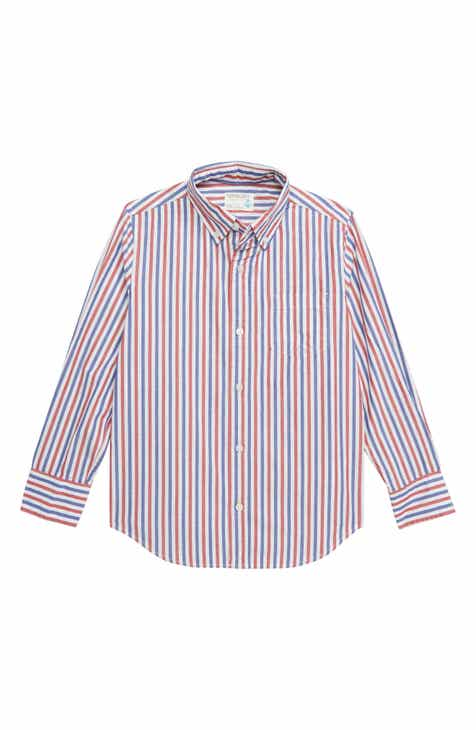 85f63dd58e592e crewcuts by J.Crew Stripe Stretch Poplin Button Down Shirt (Toddler Boys