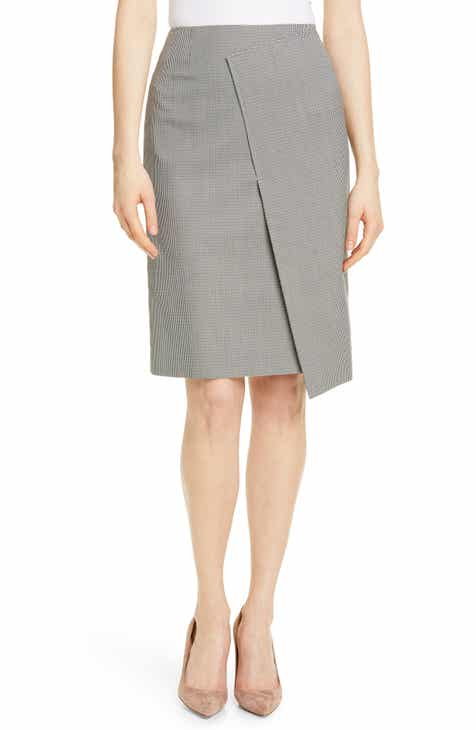 BOSS Vureta Mini Houndstooth Asymmetrical Skirt by BOSS HUGO BOSS