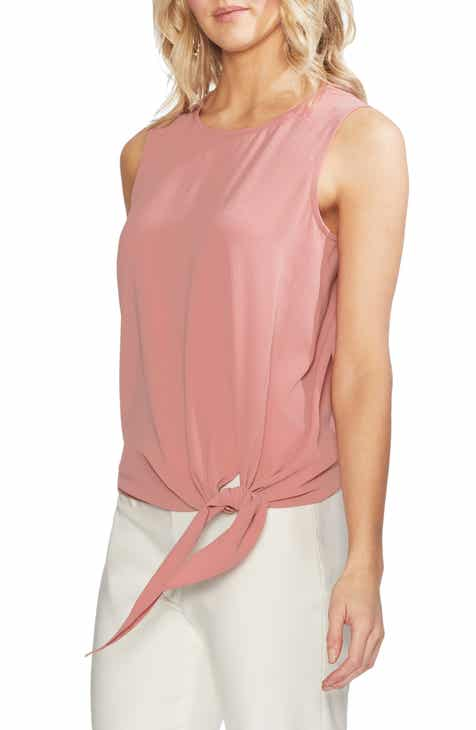 42deaf37cd292 Vince Camuto Sleeveless Tie Front Blouse