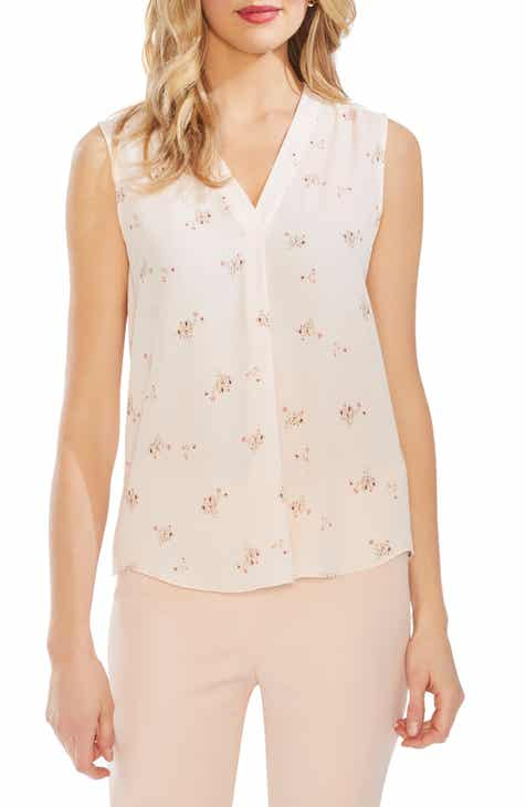 10d6950f4840bd Vince Camuto Desert Bouquet Sleeveless Blouse (Regular   Petite)