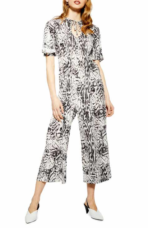 Topshop Denim Acid Wash Jumpsuit (Bleach) by TOPSHOP