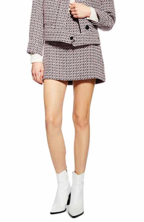 Topshop Dixie Textured Bouclé Miniskirt by TOPSHOP