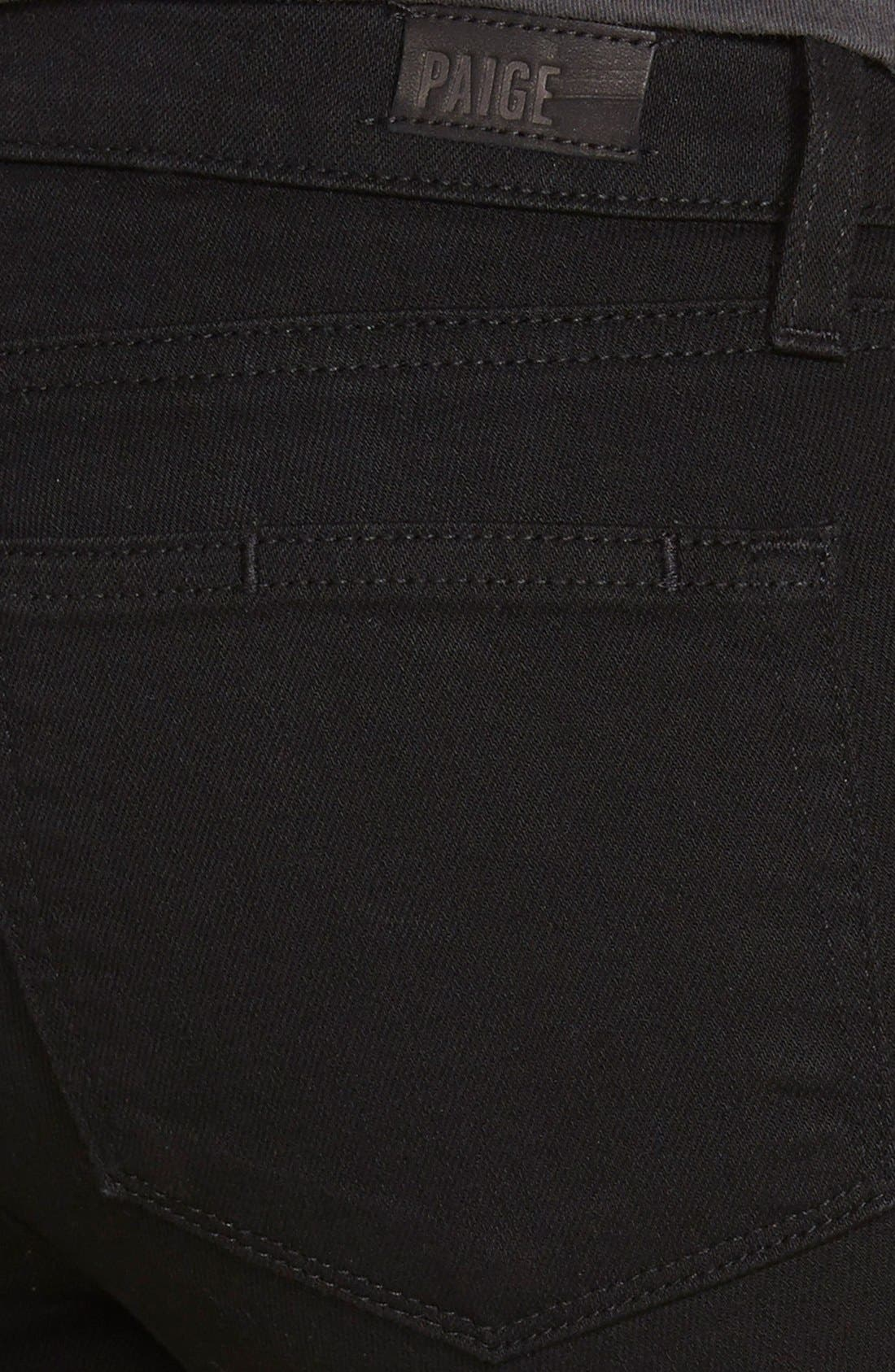 Alternate Image 3  - Paige Denim 'Verdugo' Ankle Ultra Skinny Jeans (Black Arlo Destructed)