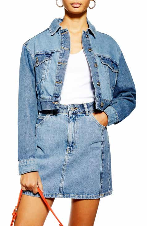 Topshop Block Denim Jacket by TOPSHOP