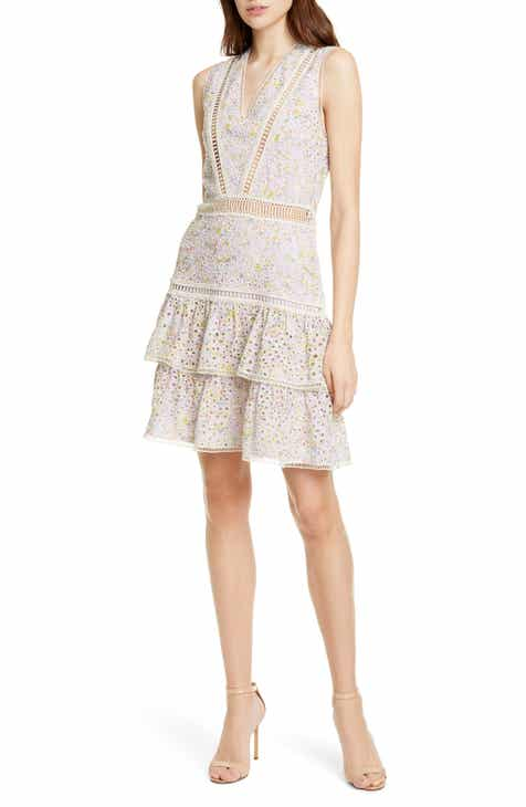 4029375ba Alice + Olivia Tonie Embroidered Eyelet Minidress