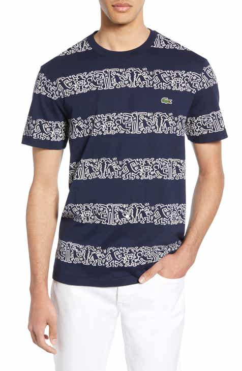 13ca3cd2975468 Lacoste x Keith Haring Stripe Crewneck T-Shirt