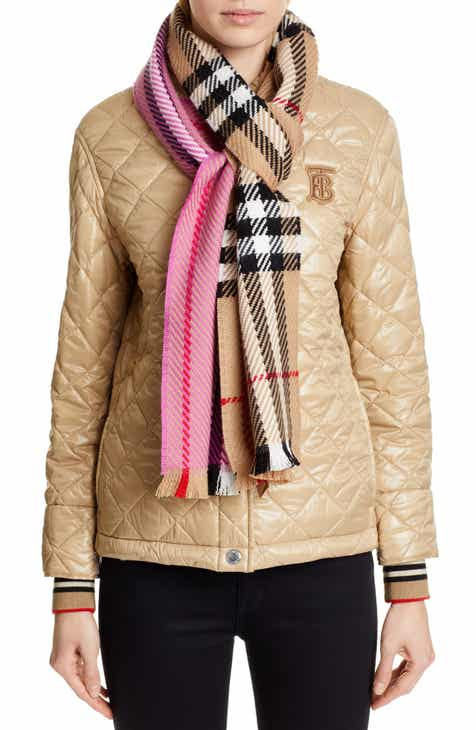 f21c2a6850a Burberry Colorblock Giant Check Wool Scarf