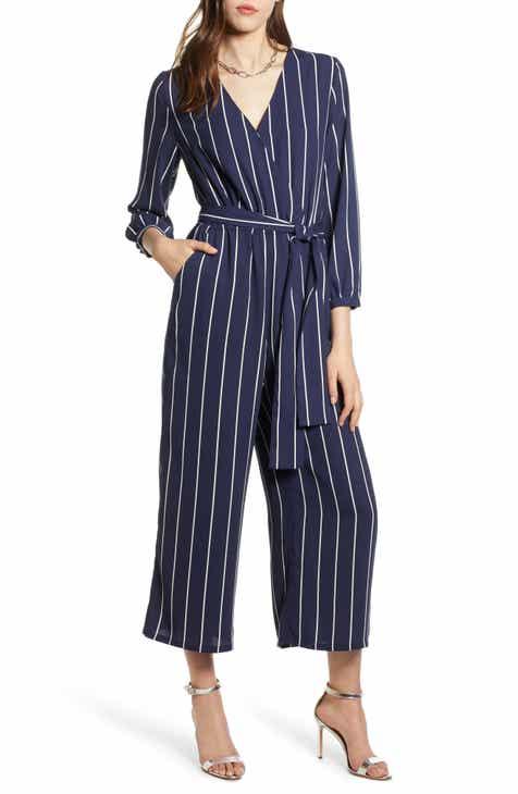 aa98480211 Halogen® Tie Waist Jumpsuit (Regular   Petite)