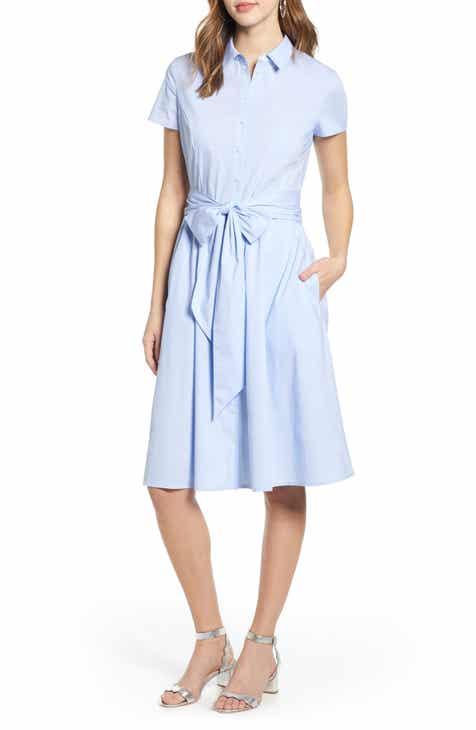 fdc5308929e4 1901 Tie Waist Shirtdress (Regular   Petite)