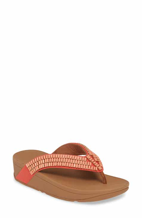 1cc7ce35fd2dcb FitFlop Surfa Crystal Embellished Flip Flop (Women).  109.95. (1). Product  Image. PASSION RED LEATHER  BLACK