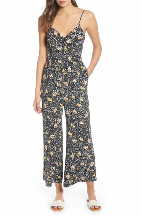Hinge Button Front Jumpsuit by HINGE