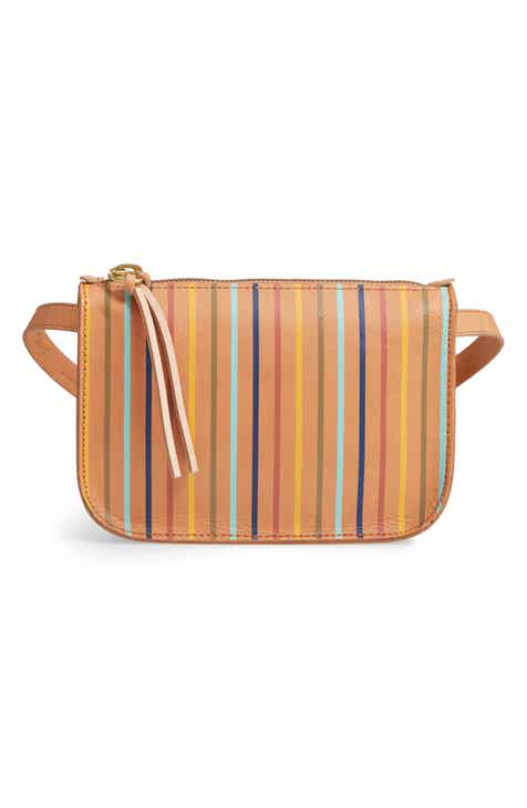 633face57724 Madewell The Simple Rainbow Stripe Pouch Belt Bag