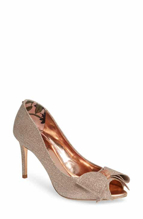 ac695b7742757e Ted Baker London Nualam Peep Toe Pump (Women)