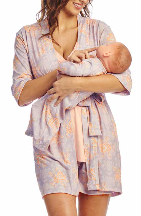 c92f101ed8fa5 Everly Grey Adalia 5-Piece Maternity/Nursing Pajama Set