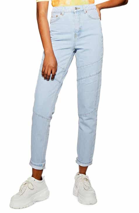 Topshop Paneled High Waist Mom Jeans by TOPSHOP
