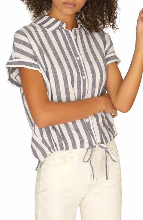 43373b2199bc27 Sanctuary Miles Borrego Tie Front Shirt (Regular   Petite)