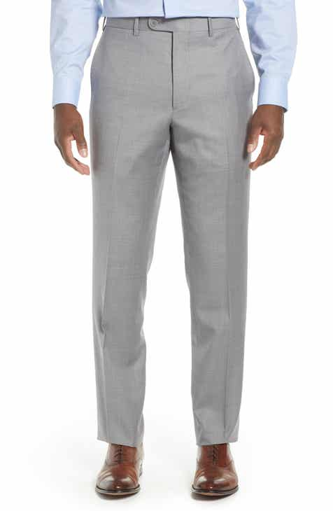 62c9a6507c3 John W. Nordstrom® Torino Traditional Fit Flat Front Solid Trousers