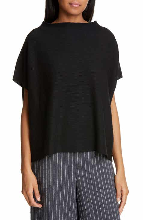 Eileen Fisher Funnel Neck Top (Regular & Petite) by EILEEN FISHER