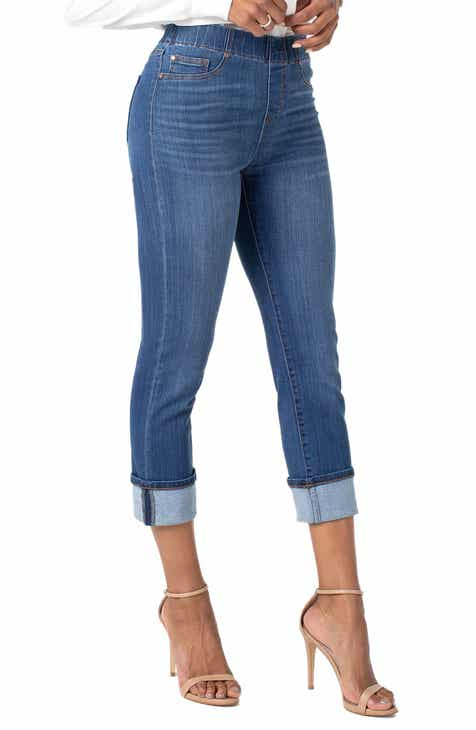 NYDJ Marilyn High Waist Slit Cuff Straight Leg Jeans (Junipero) by NYDJ