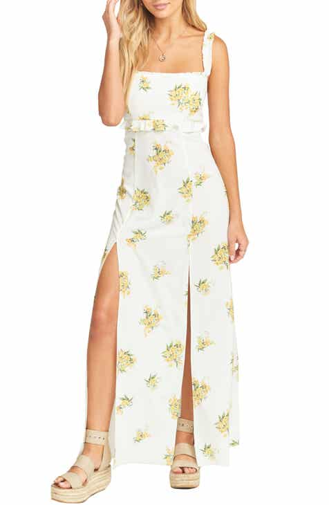 Show Me Your Mumu Bristol Floral Side Slit Maxi Dress by SHOW ME YOUR MUMU