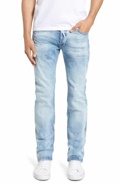 e7e6c020a03a DIESEL® Safado Distressed Slim Straight Leg Jeans (Denim)