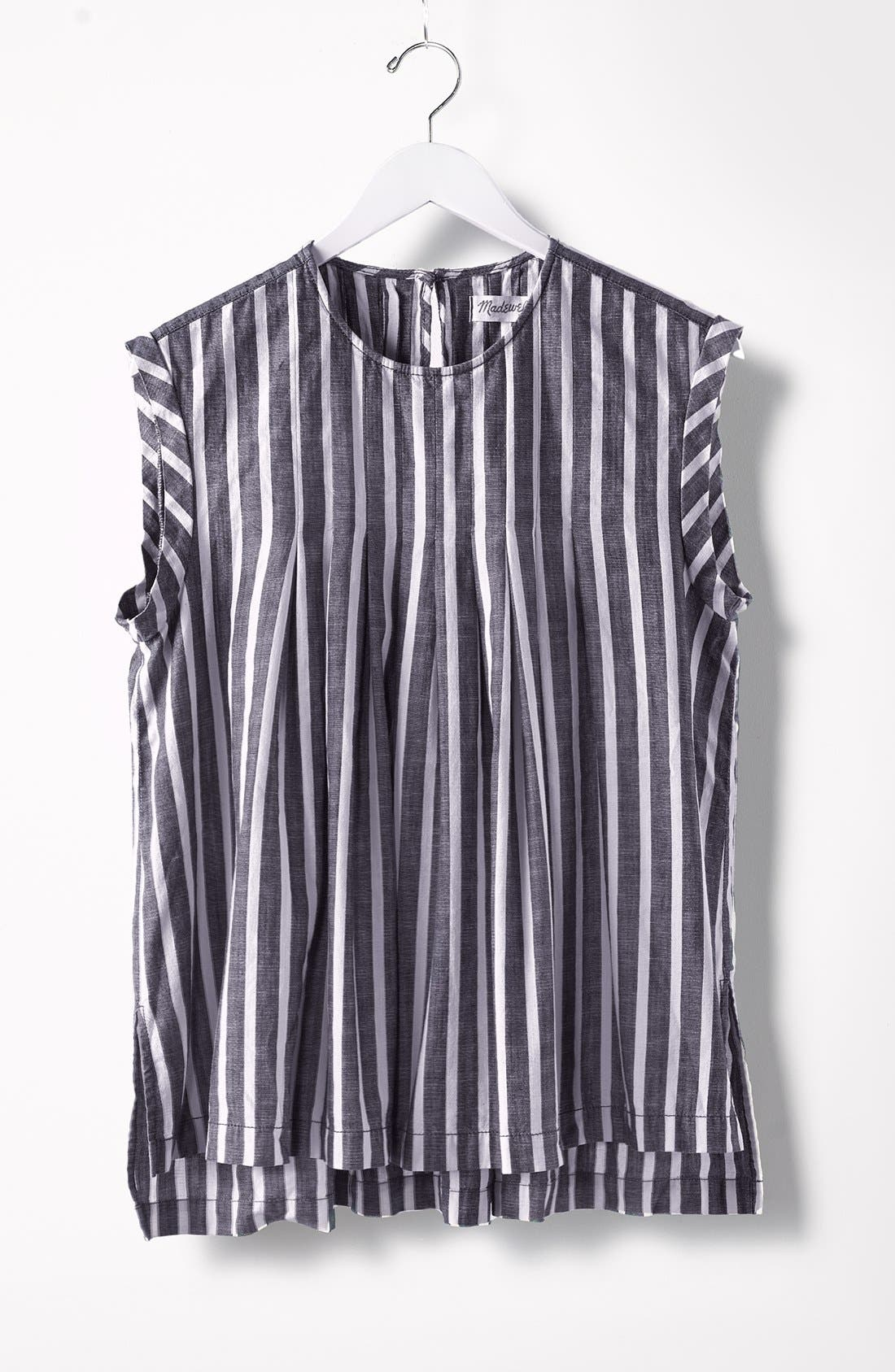 Alternate Image 4  - Madewell Inverted Pleat Cap Sleeve Top
