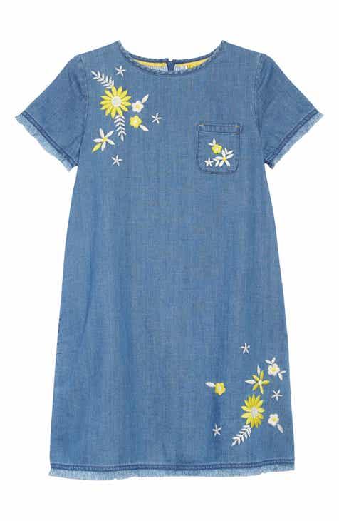 aafa276aca8 Mini Boden Floral Chambray Denim Dress (Little Girls   Big Girls)