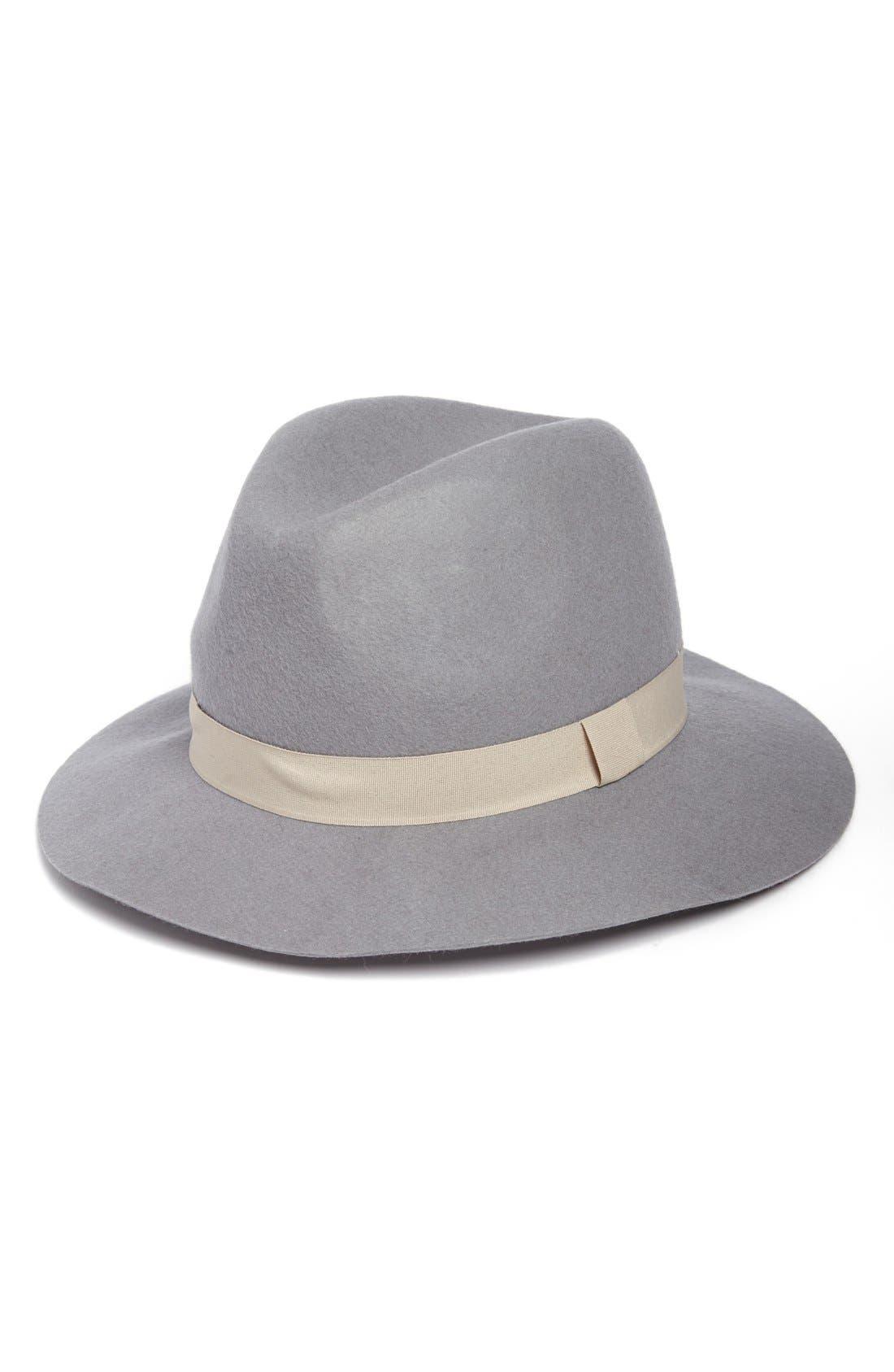 Felt Fedora,                         Main,                         color, Grey