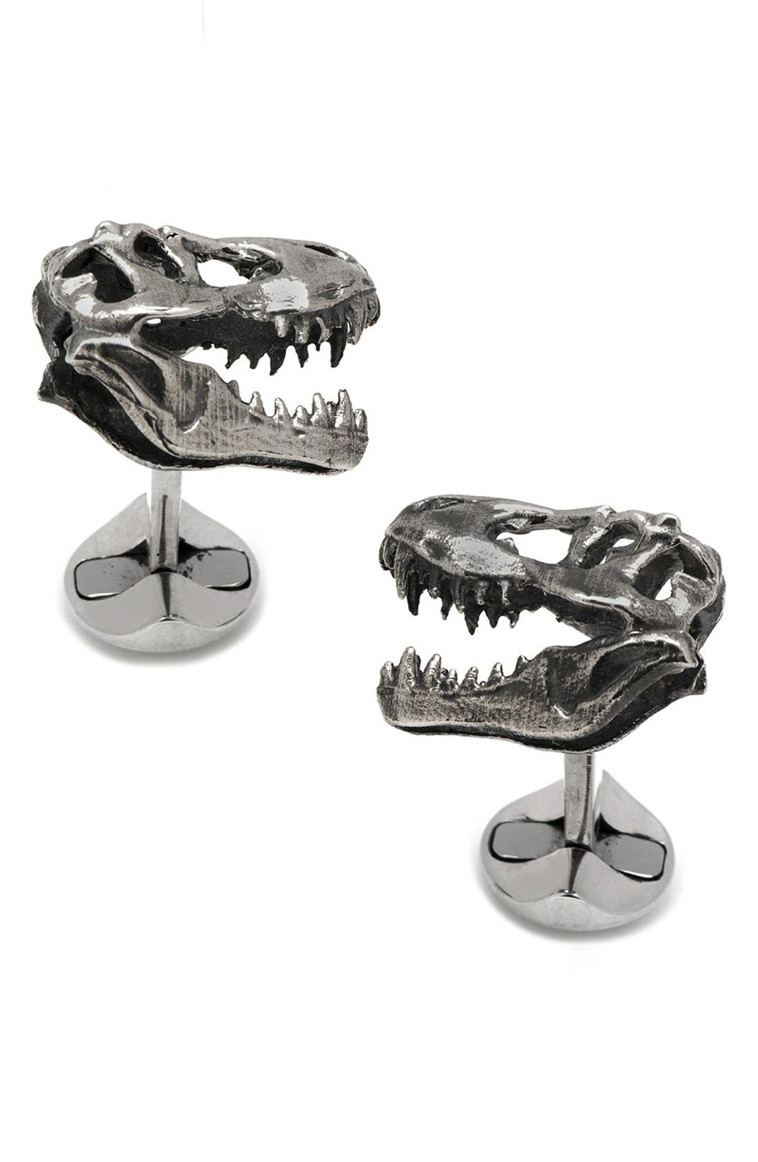 Ox and Bull Trading Co. T-Rex Skull Cuff Links