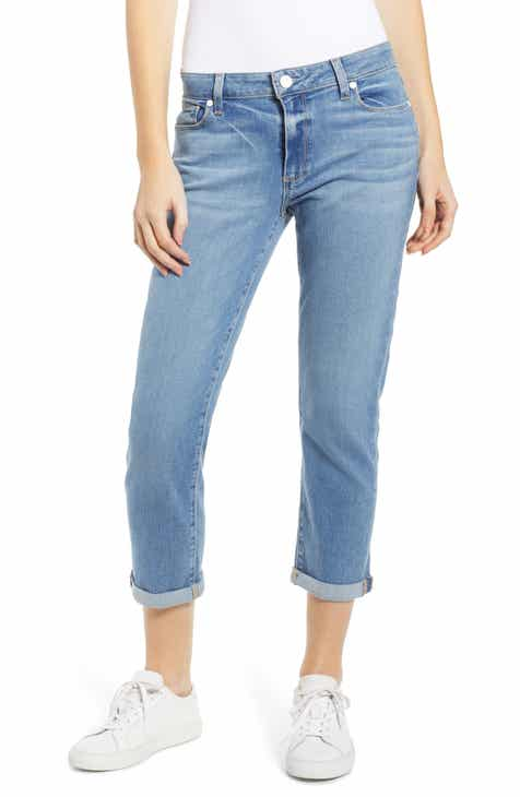 d11cce267ce7c PAIGE Transcend Vintage - Brigitte Crop Boyfriend Jeans (Rica)