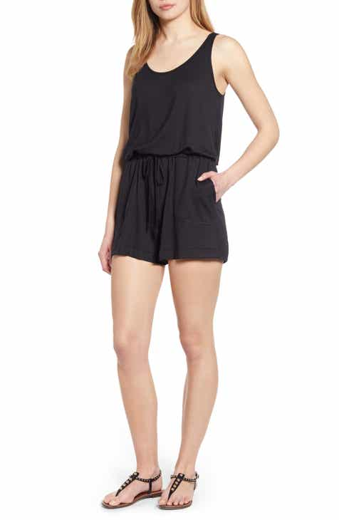4366f759fd6f Seaside Soft Jersey Lounge Romper (Regular   Petite) (Nordstrom Exclusive)