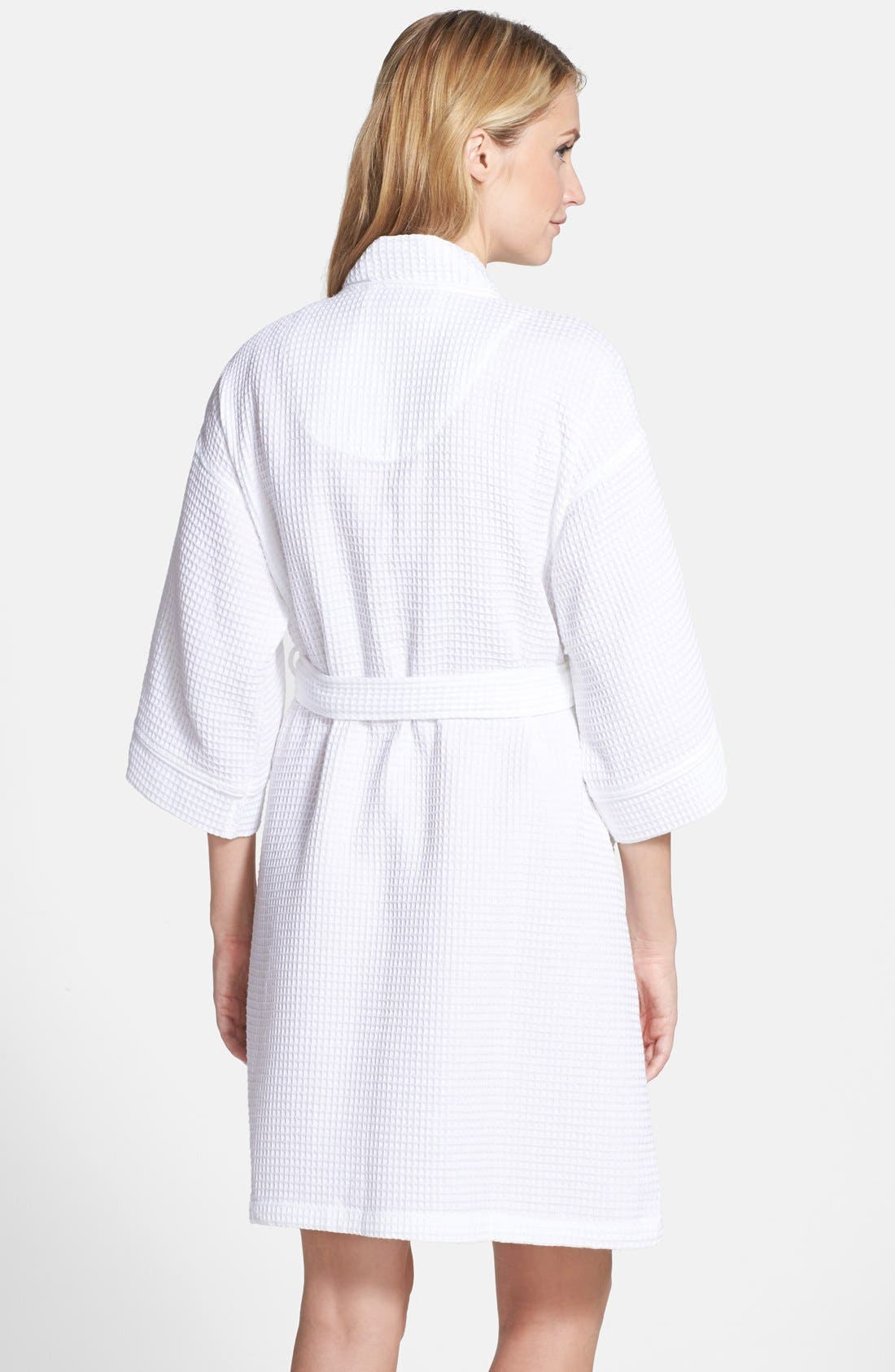 Alternate Image 2  - Nordstrom Waffle Cotton Robe