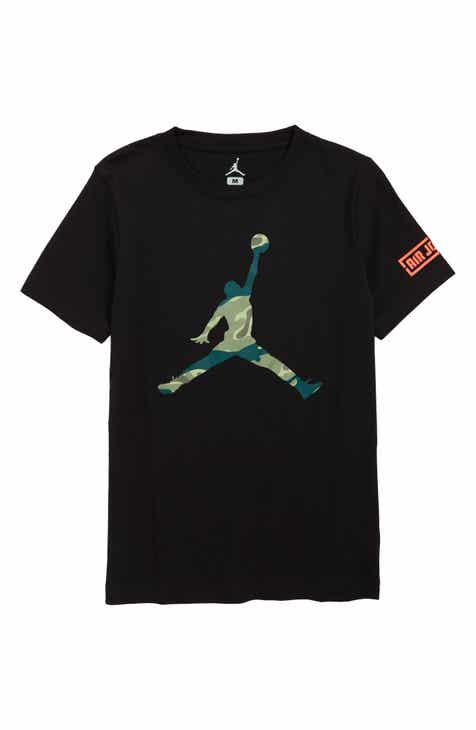 new concept 4bdaa 2a9c1 Jordan Logo Graphic T-Shirt (Big Boys)