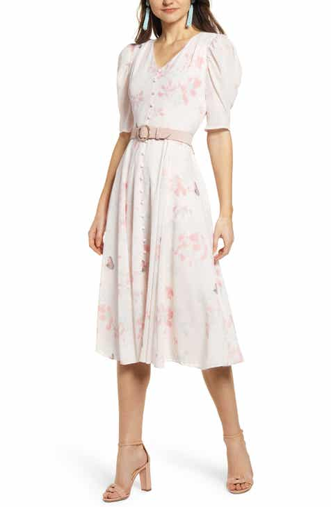 63cb79e91def Rachel Parcell Romantic Button Front Dress (Nordstrom Exclusive)