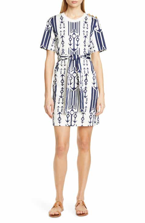 b0c90bce277a Tory Burch Seafaring Stripe Cotton T-Shirt Dress