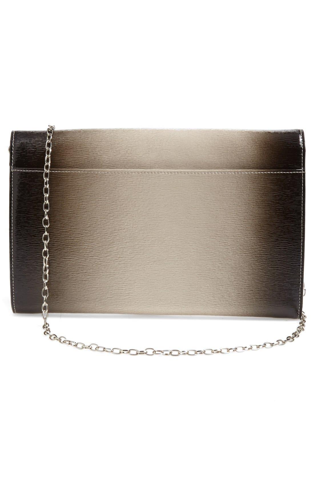 Alternate Image 5  - Halogen® Ombré Leather Envelope Clutch